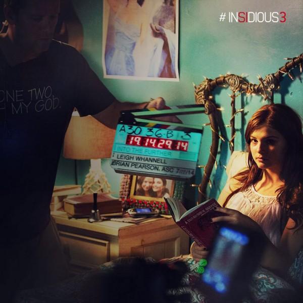 "Stefanie Scott durante la grabación de ""Insidious: Chapter 3""."