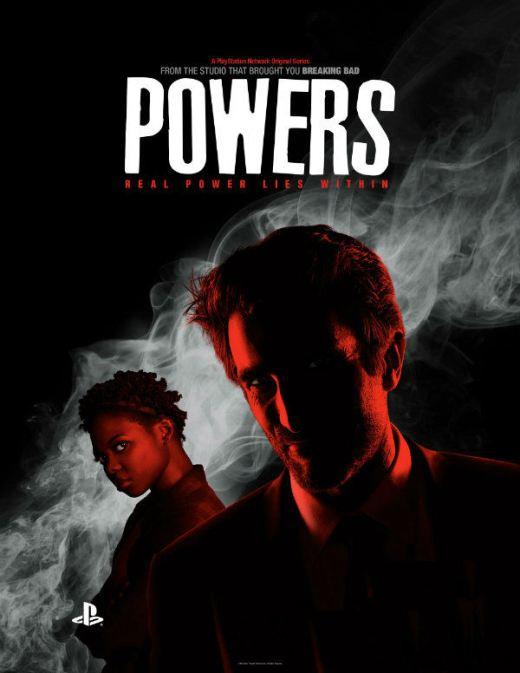 """Poster de la serie de Playstation Network """"Powers""""."""
