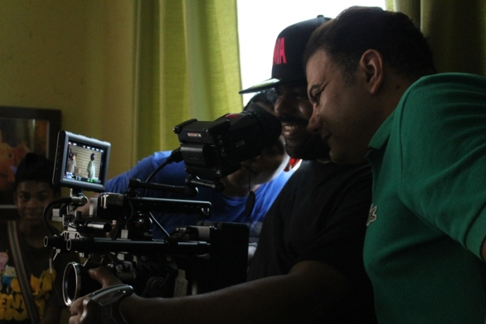 "Andrés Van der Horst durante el rodaje de ""Yo soy la Salsa""."