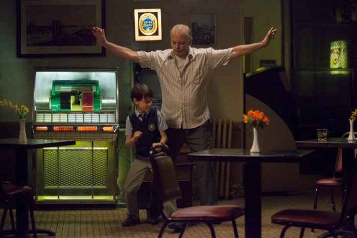 "Jaeden Lieberher y Bill Murray en ""St. Vincent""."