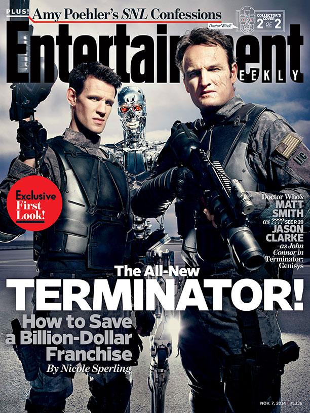 """Matt Smith y Jason Clarke en """"Terminator: Genisys""""."""