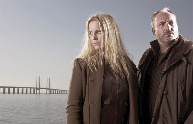 """Sofia Helin y Kim Bodnia protagonizan la versión danesa-sueca de """"The Bridge"""" (""""Bron/Broen"""")."""