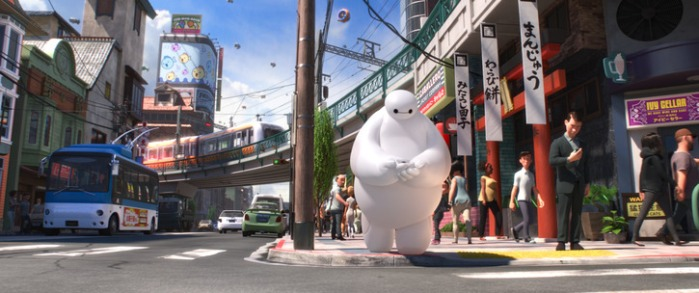 "Escena de ""Big Hero 6""."