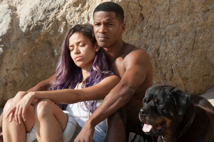 "Gugu Mbatha-Raw y Nate Parker en ""Beyond the Lights""."
