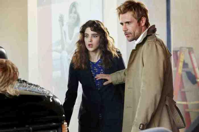 """Angélica Celaya y Matt Ryan en """"Constantine""""."""