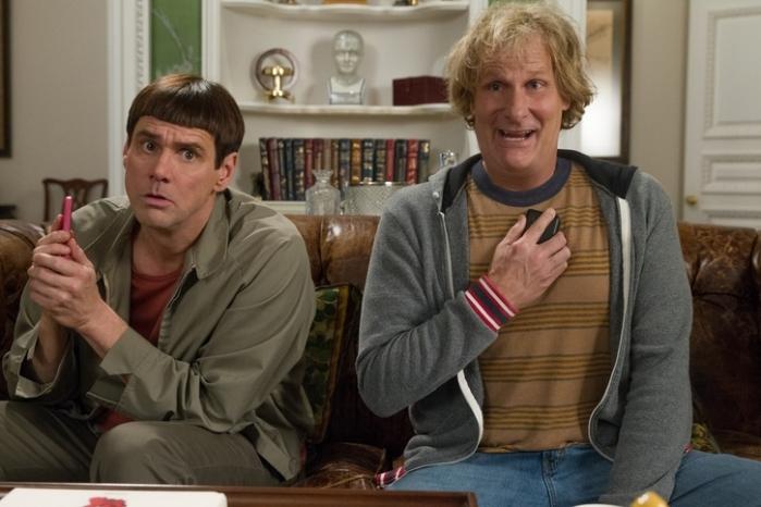 "Jim Carrey y Jeff Daniels en ""Dumb and Dumber To""."
