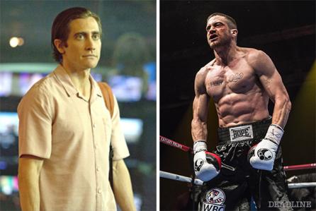 "Jake Gyllanhaal en ""Nightcrawler"" y en ""Southpaw""."