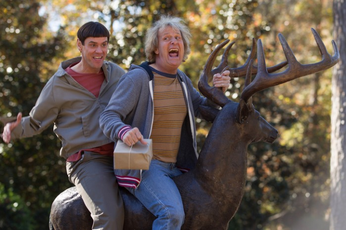 "Jim Carrey y Jeff Daniels en ""Dumb and Dumber To""."