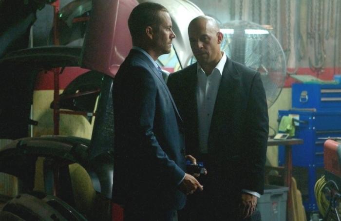 """Paul Walker y Vin Diesel en """"Furious 7""""."""