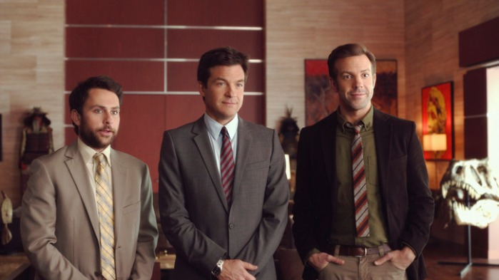 "Charlie Day, Jason Bateman y Jason Sudeikis en ""Horrible Bosses 2""."