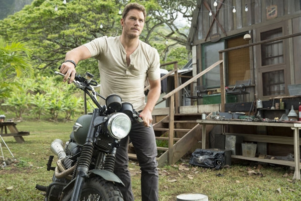 "Chris Pratt en ""Jurrasic World""."