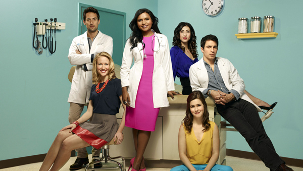 "Protagonistas de ""The Mindy Project""."