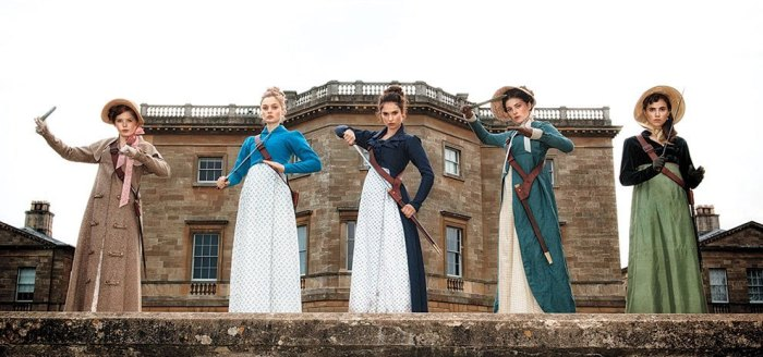 "Protagonistas de ""Pride and Prejudice and Zombies""."