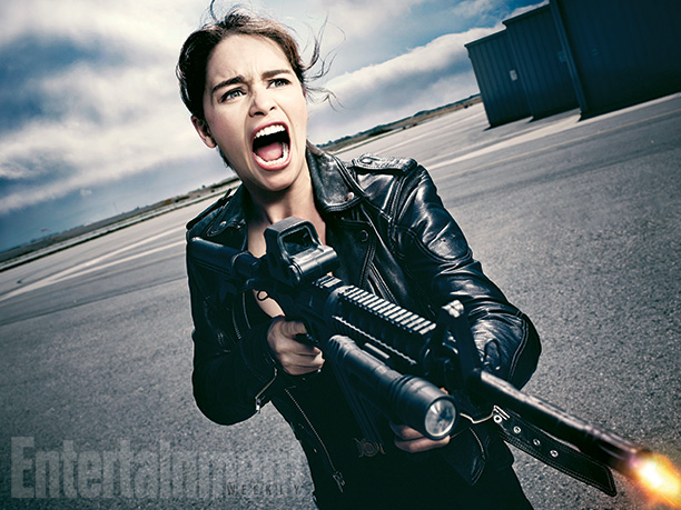"Emilia Clarke es Sarah Connor en ""Terminator: Genisys""."