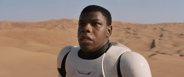 "John Boyega en ""Star Wars: Episode VII - The Force Awakens""."