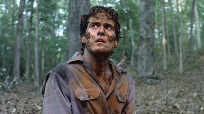 "Bruce Campbell en ""Evil Dead"" (1984)."