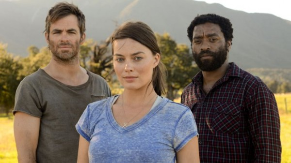 "Margot Robbie, Chiwetel Ejiofor y Chris Pine en ""Z For Zachariah""."