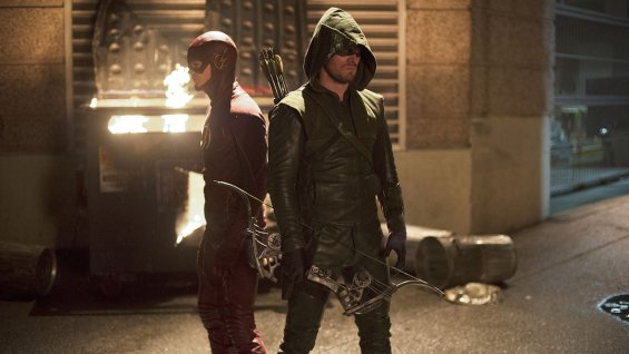"The Flash y Arrow en ""Arrow""."