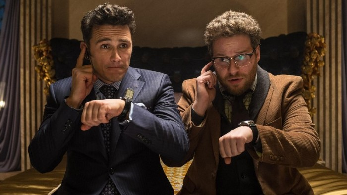 "James Franco y Seth Rogen en ""The Interview""."