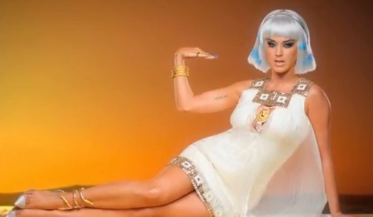 "Katy Perry en ""Dark Horse"", el video más visto en YouTube en 2014."