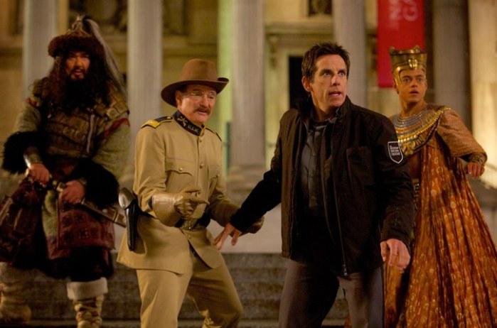 "Robin Williams y Ben Stiller en ""Night at the Museum: Secret of the Tomb""."