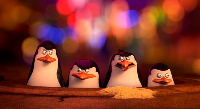 "Escena de ""Penguins of Madagascar""."