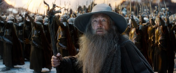 "Ian McKellen como Gandalf en ""The Hobbit: The Battle of the Five Armies""."