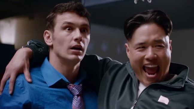 "James Franco y Randall Park en el papel del presidente de Corea del Norte Kim Jung-Un en ""The Interview""."