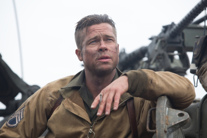 "Wardaddy (Brad Pitt) en ""Fury""."