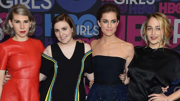 """Protagonistas de """"Girls"""", en la premiere de la 4ta. temporada."""