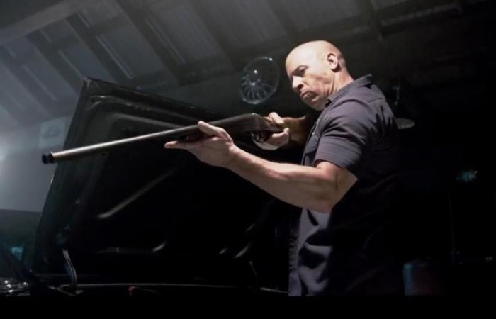 """Vin Diesel en """"Furious 7″."""