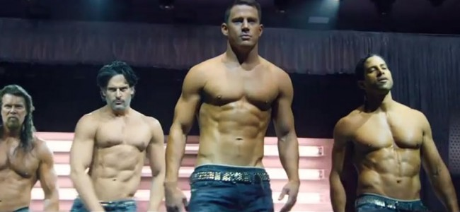 "Kevin Nash, Joe Manganiello, Channing Tatum y Adam Rodriguez en ""Magic Mike XXL""."