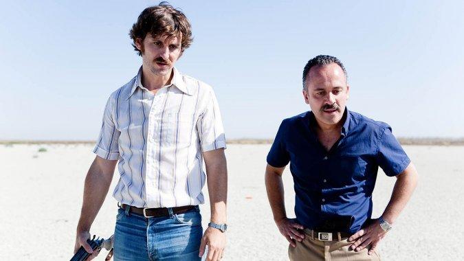 """Raúl Arévalo y Alberto Rodríguez  en """"La isla mínima""""."""