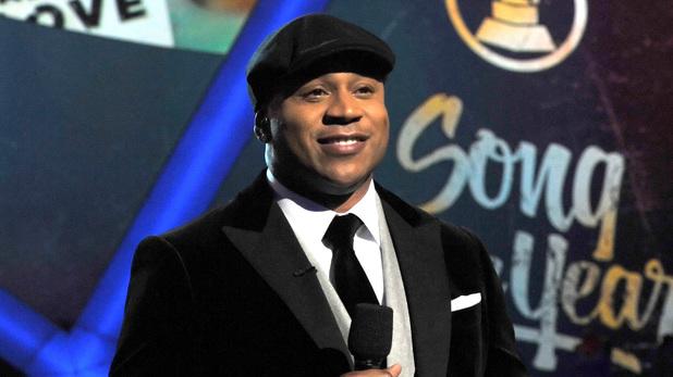 LL Cool J al conducir la entrega 57 de los Grammy Awards.