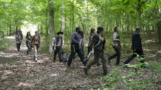 "Escena de la 5ta. temporada de ""The Walking Dead""."