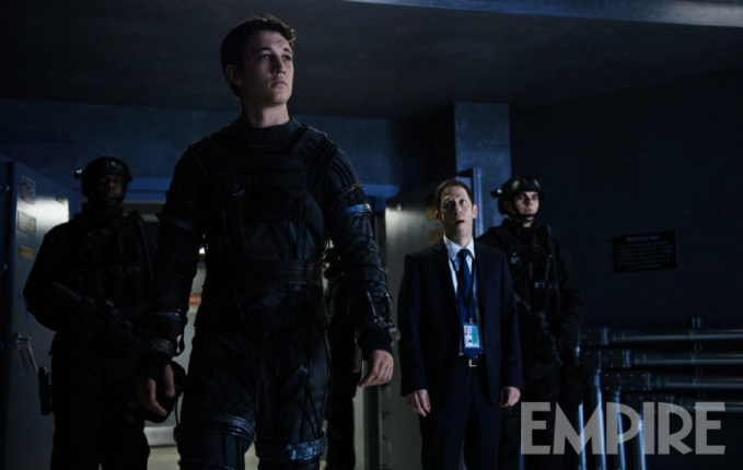 "Miles Teller como Reed Richards / Mr. Fantastic en ""Fantastic Four""."