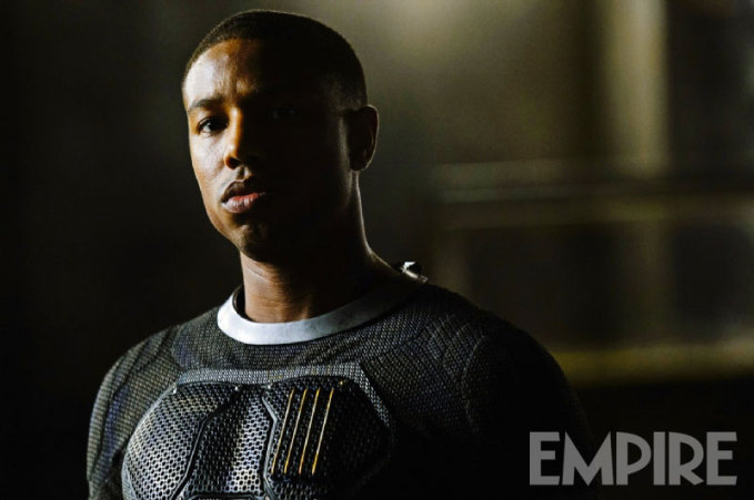 "Michael B. Jordan como Johnny Storm / The Human Torch en ""Fantastic Four""."