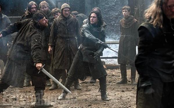 """Kit Harington como Jon Snow en la 5ta. temporada de """"Game of Thrones""""."""