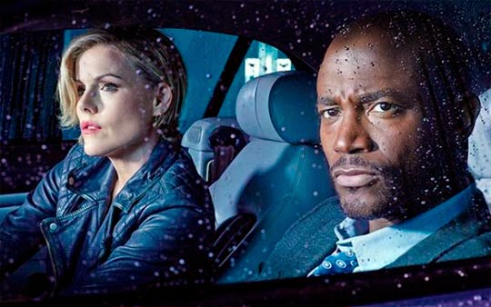 "Kathleen Robertson y Taye Diggs en ""Murder in the First""."