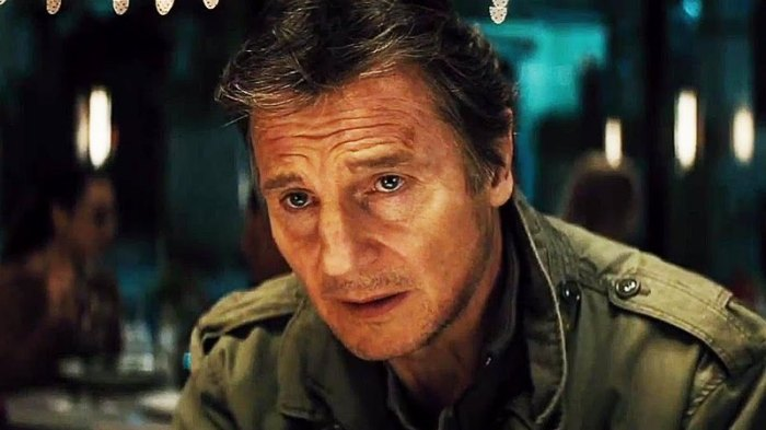 "Liam Neeson es Jimmy Conlon en ""Run All Night""."