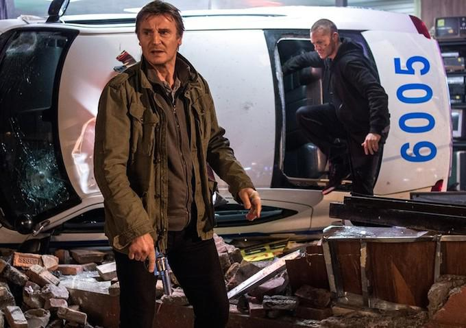 "Liam Neeson y Joel Kinnaman en ""Run All Night""."