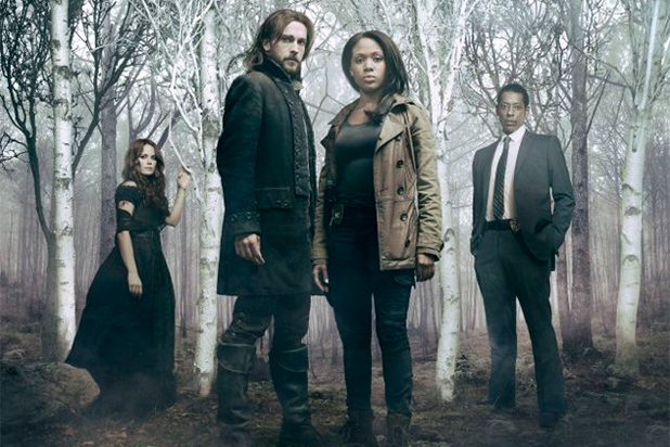"Katia Winter, Tom Mison, Nicole Beharie y Orlando Jones en ""Sleepy Hollow""."