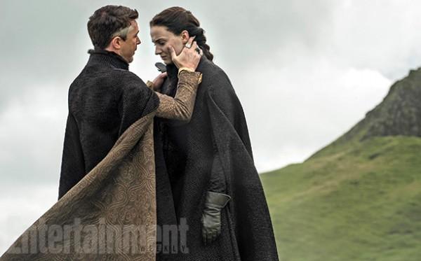 """Aidan Gillen y Sophie Turner en la 5ta. temporada de """"Game of Thrones""""."""
