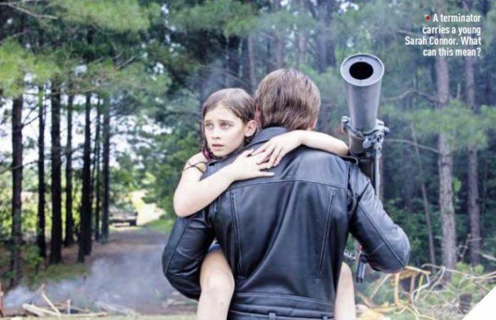 """Una pequeña Sarah Connor es rescatada por un T-800 en """"Terminator: Genisys""""."""