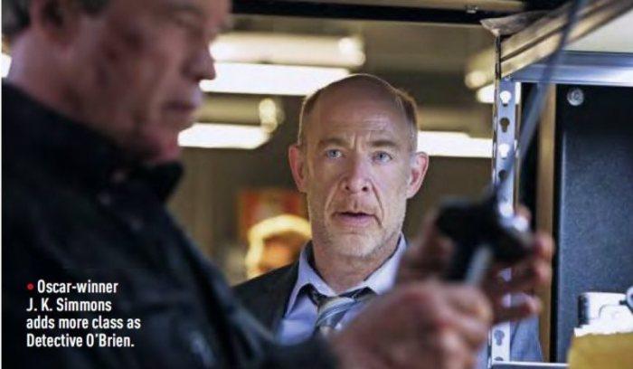 """Arnold Schwarzenegger y J.K. Simmons en """"Terminator: Genisys""""."""