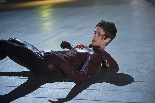 "Grant Gustin como Barry Allen / The Flash en ""The Flash""."