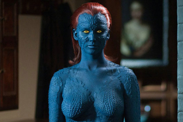 "Jennifer Lawrence como Mystique en ""X-Men: Days of Future Past""."