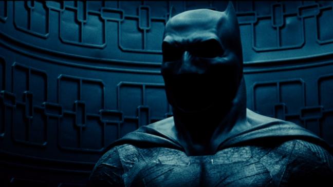 """Uniforme de Batman en """"Batman v Superman: Dawn of Justice""""."""