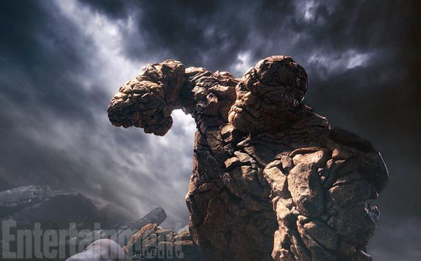 "Imagen de The Thing, de ""Fantastic 4″, publicada por Entertainment Weekle."
