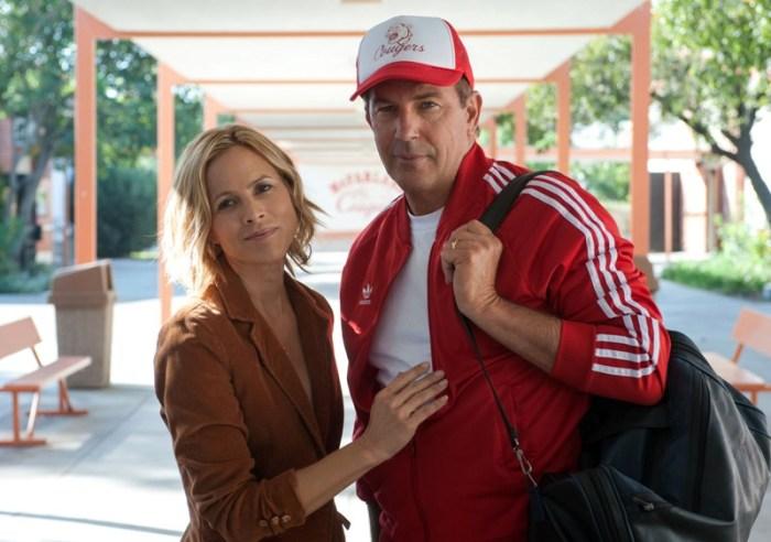 "Marie Bello y Kevin Costner en ""MacFarland, USA""."